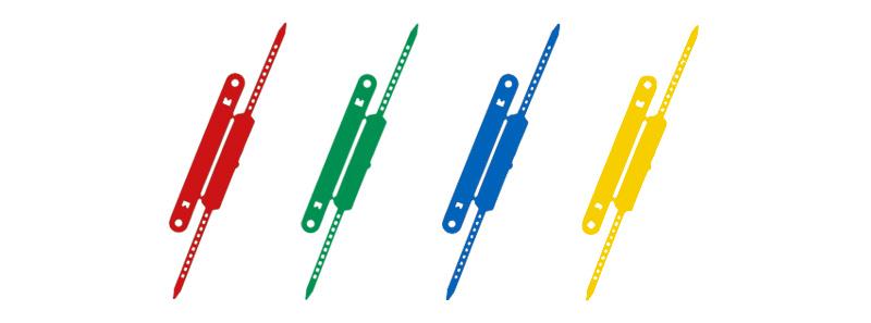 Heftstreifen plastik  Laurel : Heftstreifen mit Deckschiene